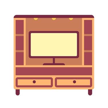 Backdrop TV Hutankayu Furniture